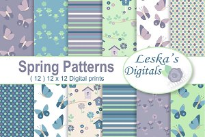 Spring Digital Patterns - Paper Pack