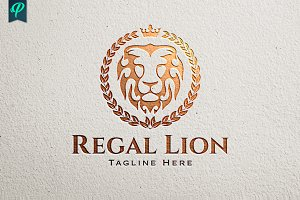 Regal Lion Logo Template