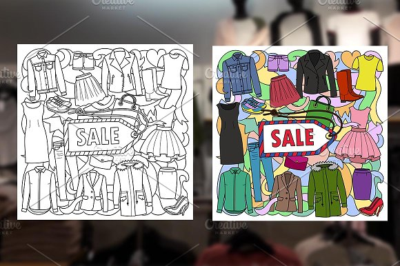 Woman Clothes Sale Set