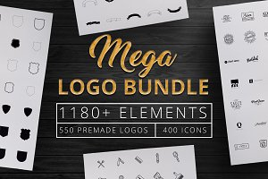 1180+ Mega Logo Bundle Creator Kit