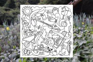 Garden Doodle Set + Seamlesses
