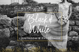 Black & White Wedding Preset LR PS