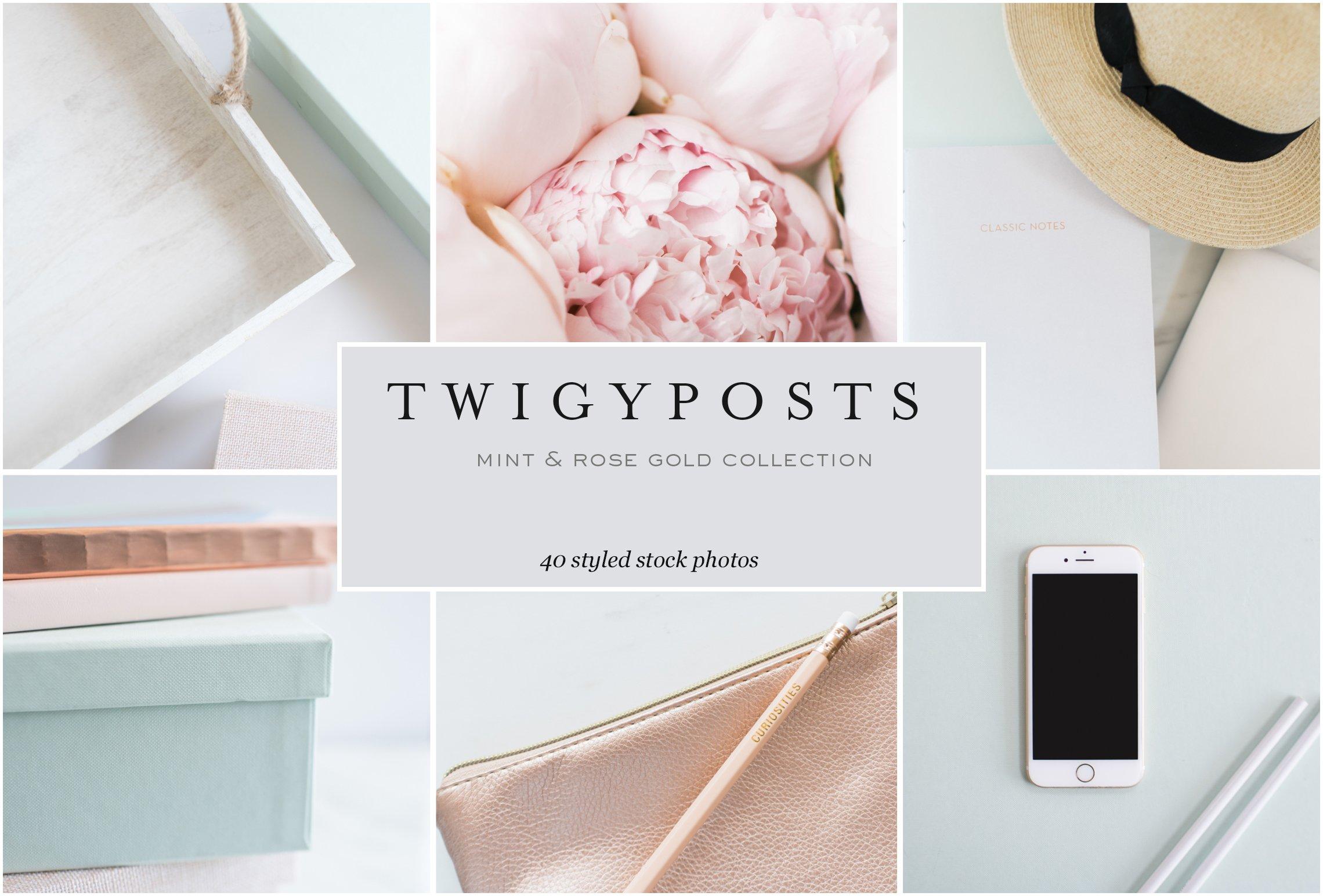 Mint Rose Gold Stock Photos Instagram Templates Creative Market
