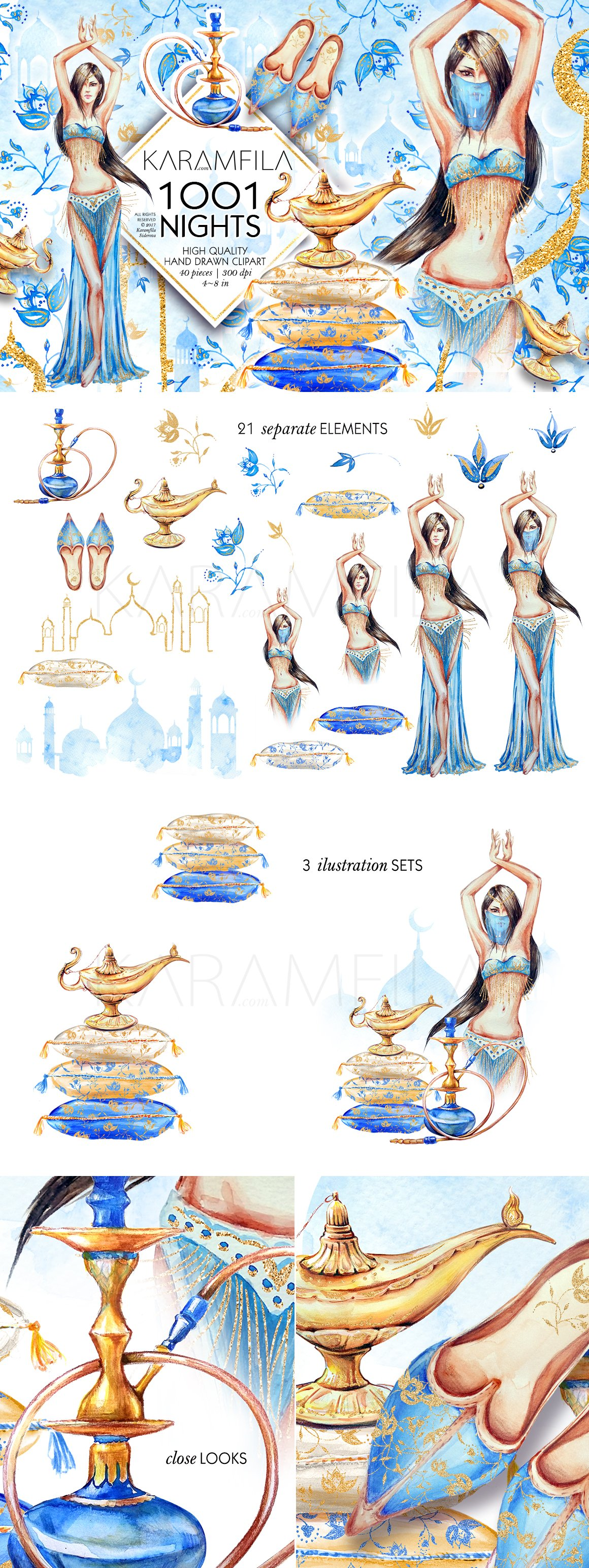 1001 Nights ~ Illustrations ~ Creative Market