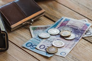 Polish zloty and wallets