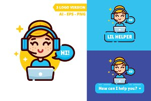 Lil Helper - little helper logo
