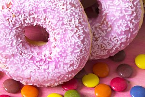 donuts with candy