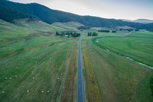 Aerial view of Omeo highway