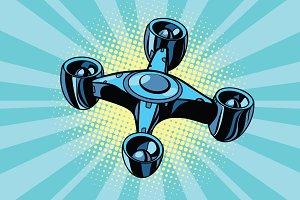 futuristic quadcopter drone