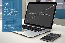 Macbook Mockup - 7 poses - Vol.3