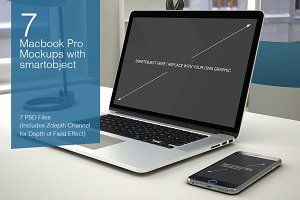 Macbook Mockup - 7 poses - Vol.3