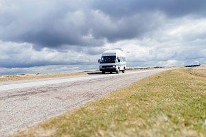 Road trip with an old camper van