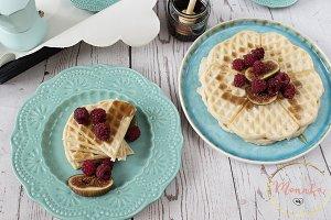 Belgian heart shaped waffles