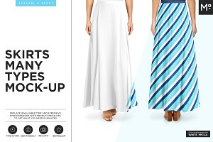 10x Women Skirts Mock-ups Set