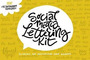 Social Media Lettering Kit