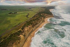 Coastline along the Great Ocean Road