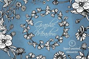 Graphic Flowers Clip Art