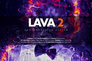 Lava 2 Photoshop Action