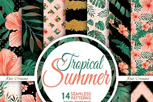 Tropical Summer Digital Paper 2