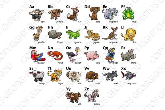 Animal Alphabet Chart Set