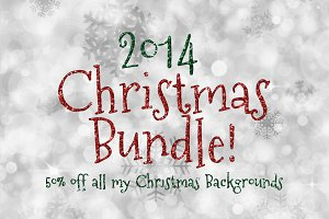 25% OFF Christmas Background Bundle