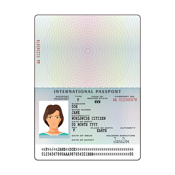 International passport template - Creative Daddy