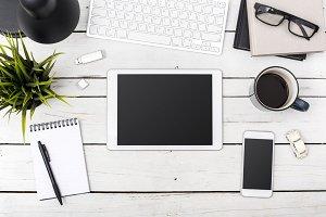 Home office tablet header