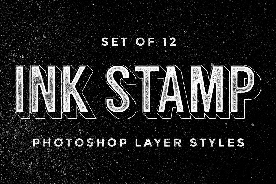 Ink Stamp Photoshop layer styles ~ Photoshop Add-Ons ~ Creative Market