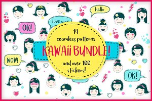 Kawaii kit: patterns and stickers