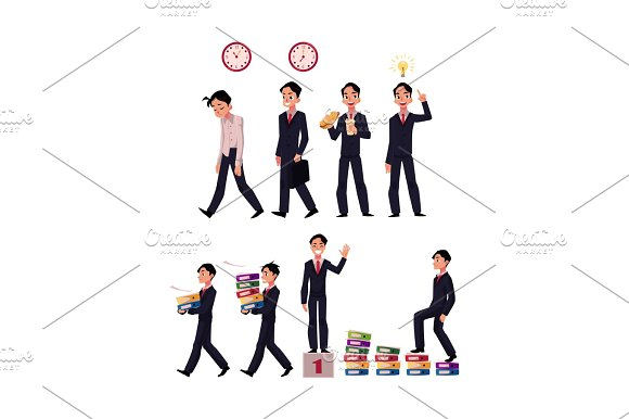 Business Situations Go To Work Idea Generation Lunch Success Career Ladder