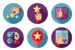 Customer service vector icons set