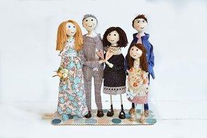 Handmade Family Art Dolls Gift