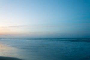 Summer sunset on a beach