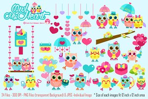 Owl My Heart Digital Clipart
