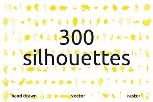 300 hand drawn elements