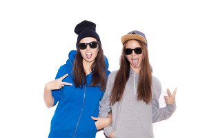 Two young swag women