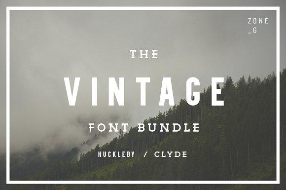 The Vintage Font Bundle