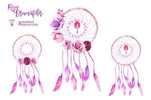 Rosy Dreamcatchers