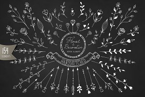 Handsketched vector elements Pack 1