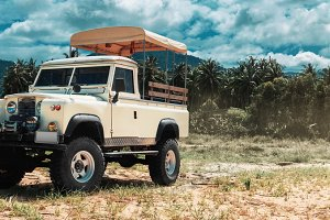 safari car on offroad ,adventure trail