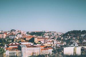 View of Lisbon cityscape