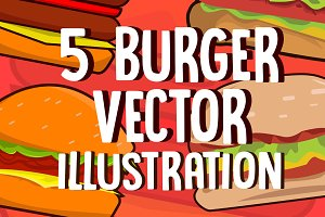 Burger Vector Illustration Pack