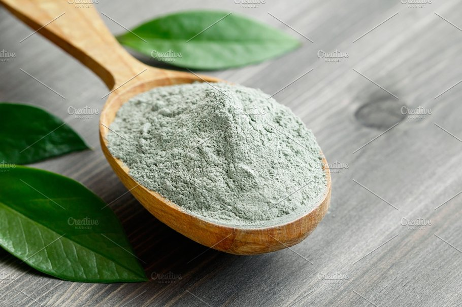 Image result for green clay on the wooden table