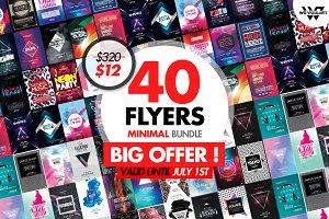 40 MINIMAL ELECTRO Flyer Templates