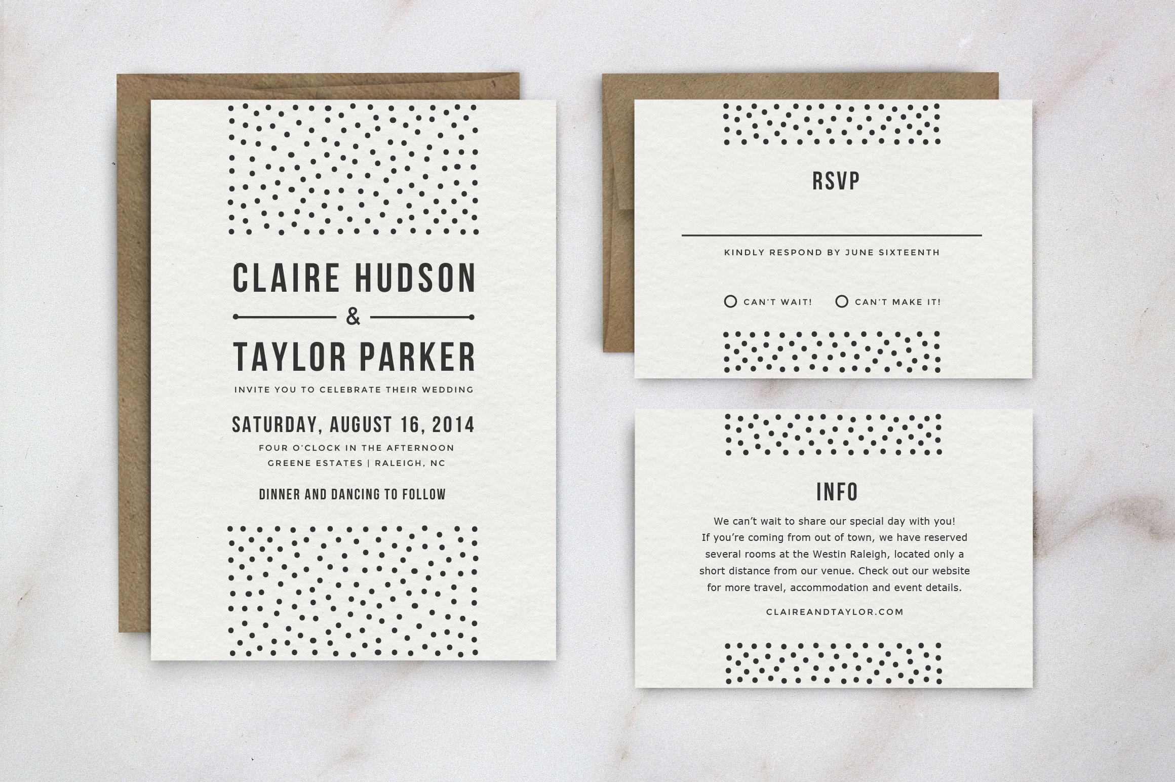 Wedding Invitation Template Suite ~ Invitation Templates ~ Creative ...