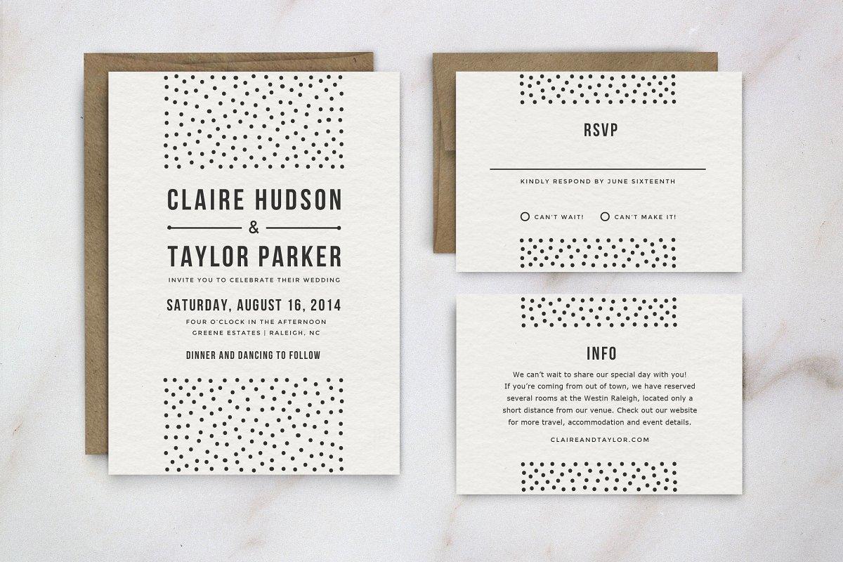 Wedding Invitation Template Suite | Creative Wedding Templates ...