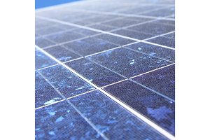 Closeup shot of Solar Panel