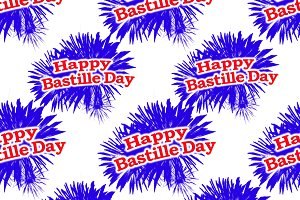 Happy Bastille Day Graphic Pattern