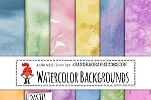 Watercolor backgrounds textures