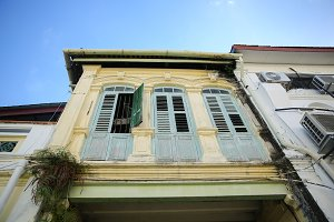 Old colonial houses in George Town